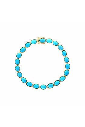 14kt Yellow Gold Turquoise Bracelet