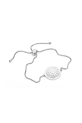 Sterling Silver Plated Harriet Slider Chain Bracelet