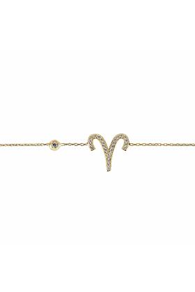 Aries Zodiac Bracelet Gold