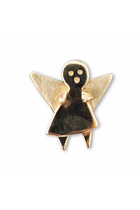 9kt Yellow Gold Guardian Angel Pin