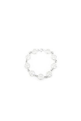 Large Silver Kiss Hug Bracelet VIIII
