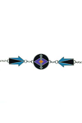 Kunye Silver Arrows Enamel Bracelet
