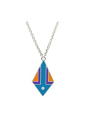 Kunye Silver Small Kite Enamel Pendant