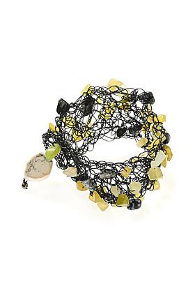 Wire Olive Quartz Bracelet