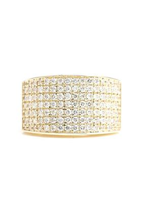 14kt Gold 7 Row Diamond Ring