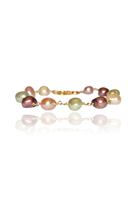 Bracelet with Freshwater Pearls in Different Colors