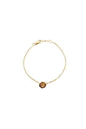 Yellow Gold Vermeil Wildflower Bracelet with a Diamond