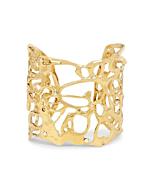 Yellow Gold Botswana Fluidity Cuff Bracelet