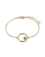 Gold Vermeil Linear Bracelet With Diopside