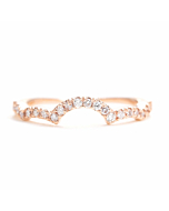 14kt Gold Curved Half Eternity Diamond Wedding Band