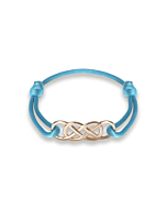 Rose Gold Infinity Ibiza Bracelet With Turquoise Ribbon | INFINITY by Victoria