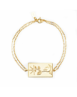 24kt Yellow Gold Celestial Days - Saturn's Day Bracelet
