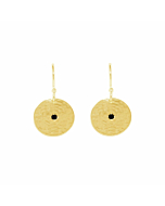 Gold & Black Spinel Grace Small Disc Earrings