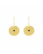Gold & Black Spinel Grace Small Disc Earrings
