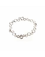 Sterling Silver Bubble Link Bracelet