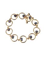 Yellow Gold & Sapphire Circles Bracelet | Goldspindel