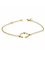 Circling Gold Plated Bracelet