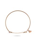 9kt Rose Gold Oro Rosa Cuore Bracelet