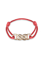 Rose Gold Infinity Ibiza Bracelet With Red Ribbon | INFINITY by Victoria