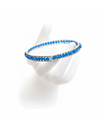 Sterling Silver Capri Blue Crystal Girdle Bangle