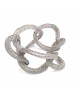 Goddess Enlightement Link Twist White Gold Bracelet
