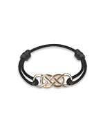 Rose Gold Infinity Ibiza Bracelet With Black Ribbon | INFINITY by Victoria
