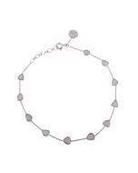 18kt White Gold Diamond Slices Bracelet