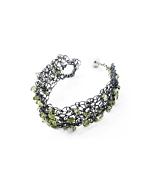 Wire & Natural Peridot Bracelet