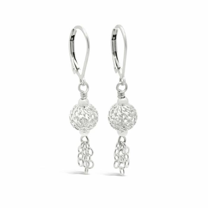 Sterling Silver Autumn Moon Dainty Dangle Earrings