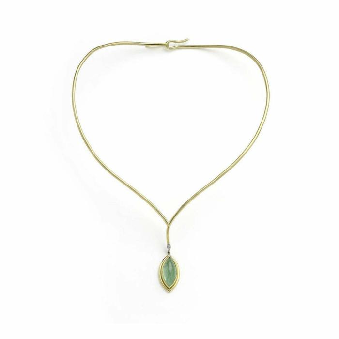 Cyprus Tree Paraiba Tourmaline And Diamond Necklace