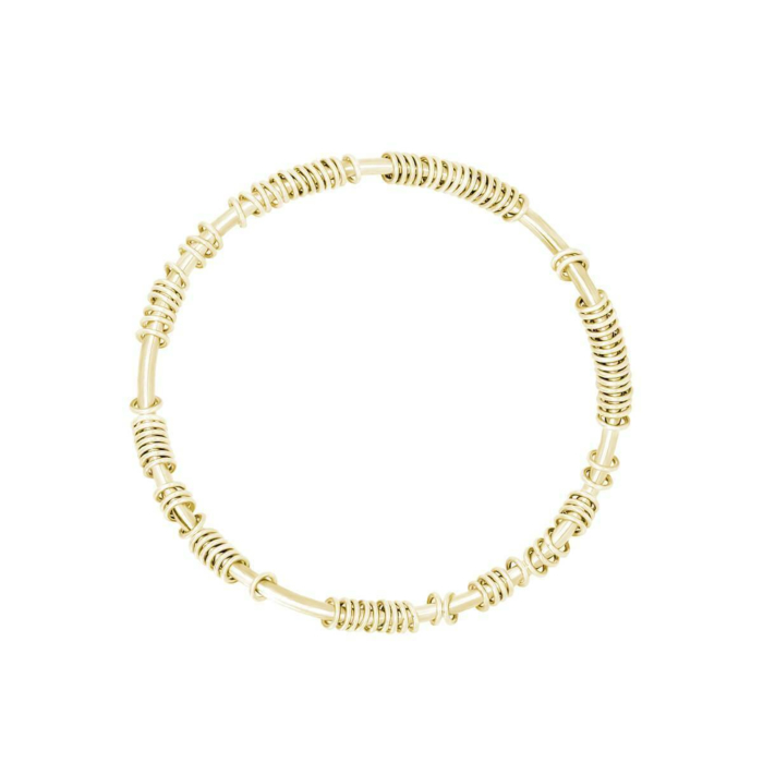 Centi Bangle In Solid Yellow Gold