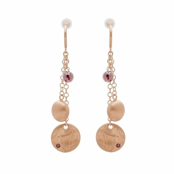 Veneto Trilogy Earrings with Garnet