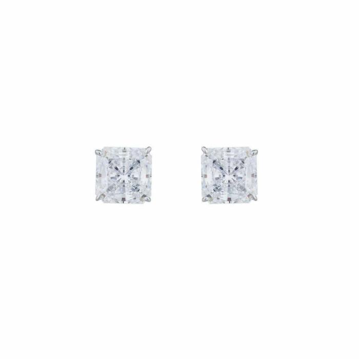 14kt White Gold 1.5ct Princess Stud Earrings