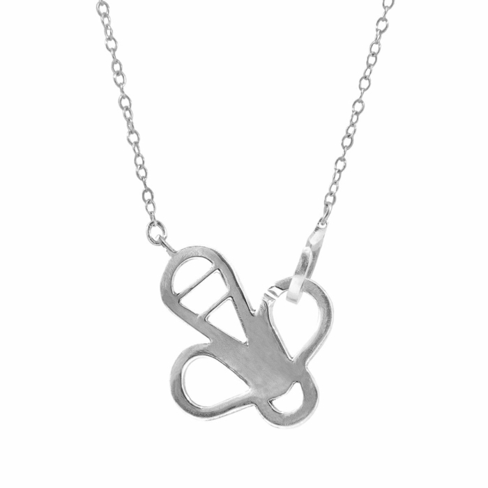 Flying Bee Link Paradise Silver Necklace Pendant