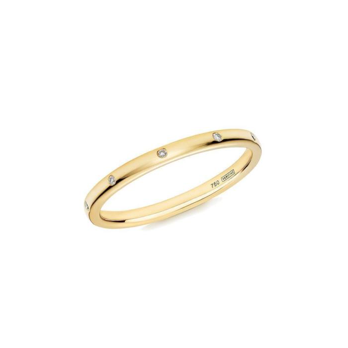 10 Stone XV Diamond Ring In 18kt Yellow Gold