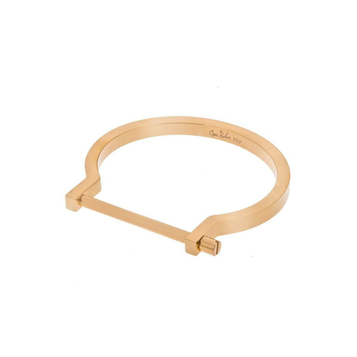 Gold Classic Screw Cuff Bracelet
