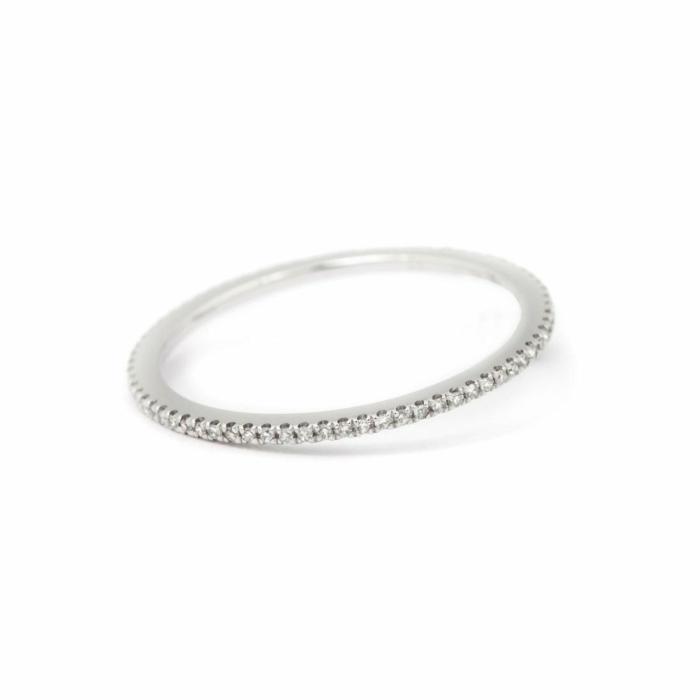 18kt White Gold Caresse Diamond Eternity Ring