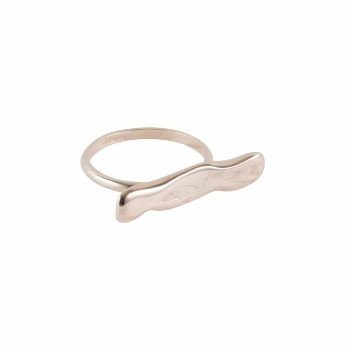 Rose Gold Wave Bar Ring