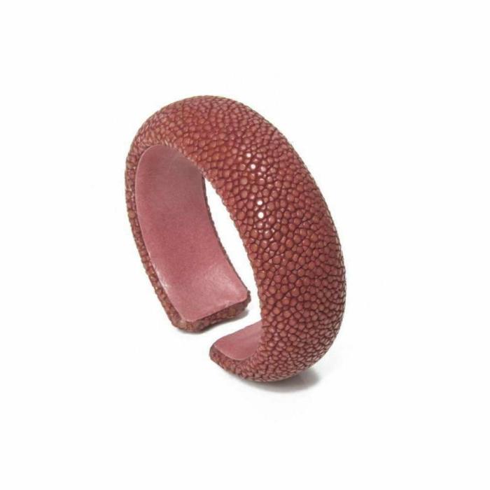 Samba Vieux Rose Stingray Leather Bangle