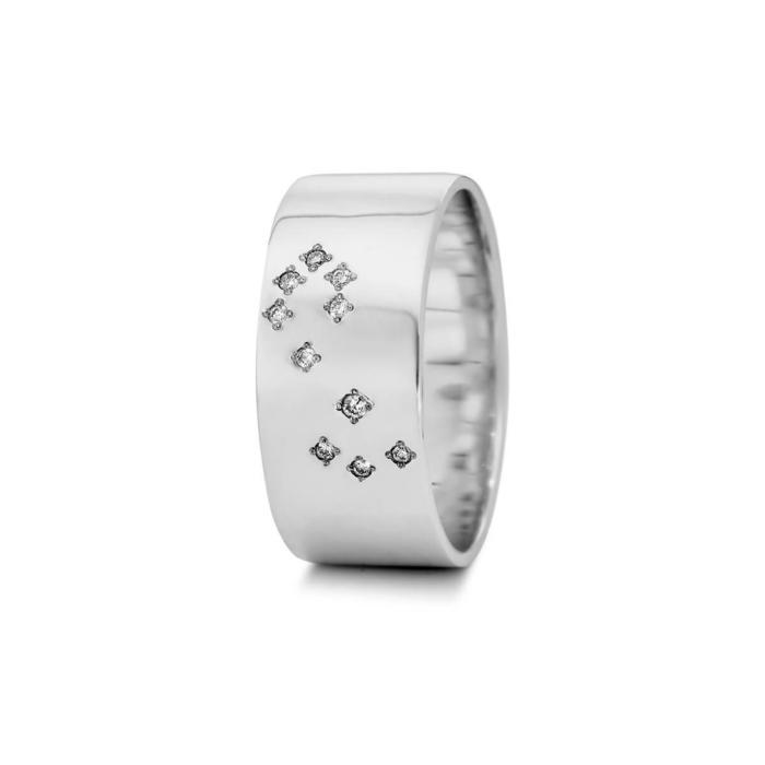 Sterling Silver Scorpio Zodiac Constellation Ring