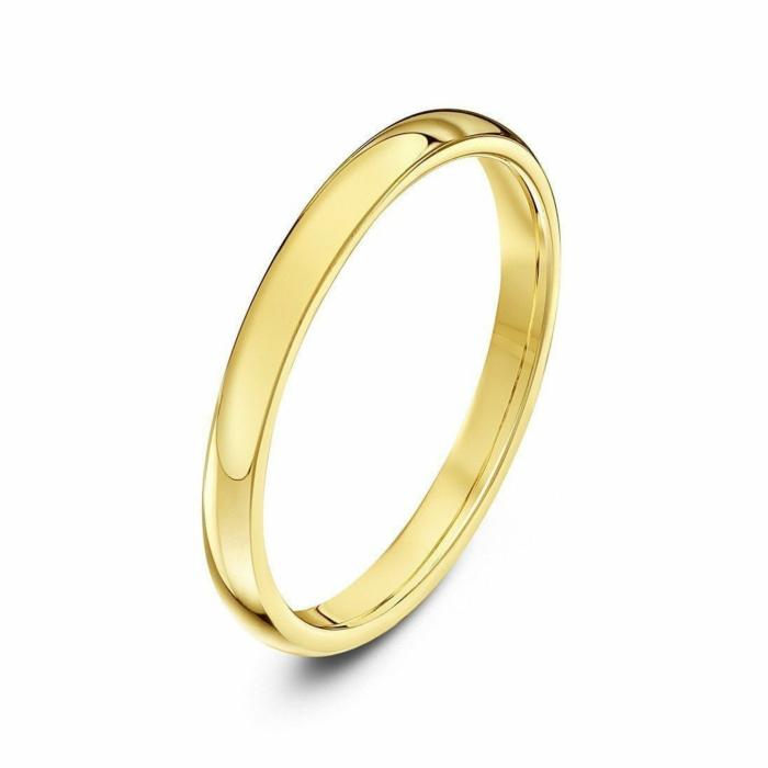 9kt Yellow Gold Heavy Court-Shape Wedding Ring