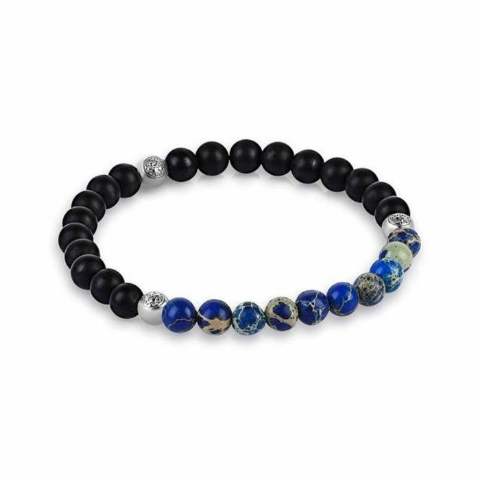 Agate Beaded Bracelet - Micro