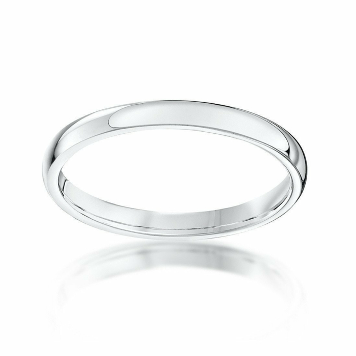 Platinum Heavy Court-Shape Wedding Ring