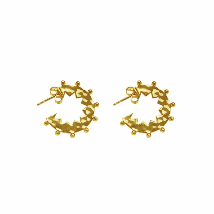 Gold Maya Small Hoop Earrings