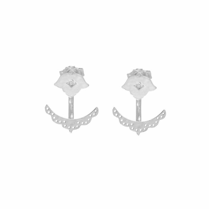 Sterling Silver Beleza Cuff Earrings