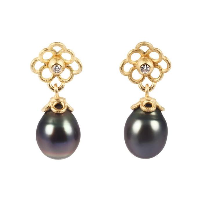 Yellow Gold & Pearl Tahiti-Dream Earrings | Goldspindel