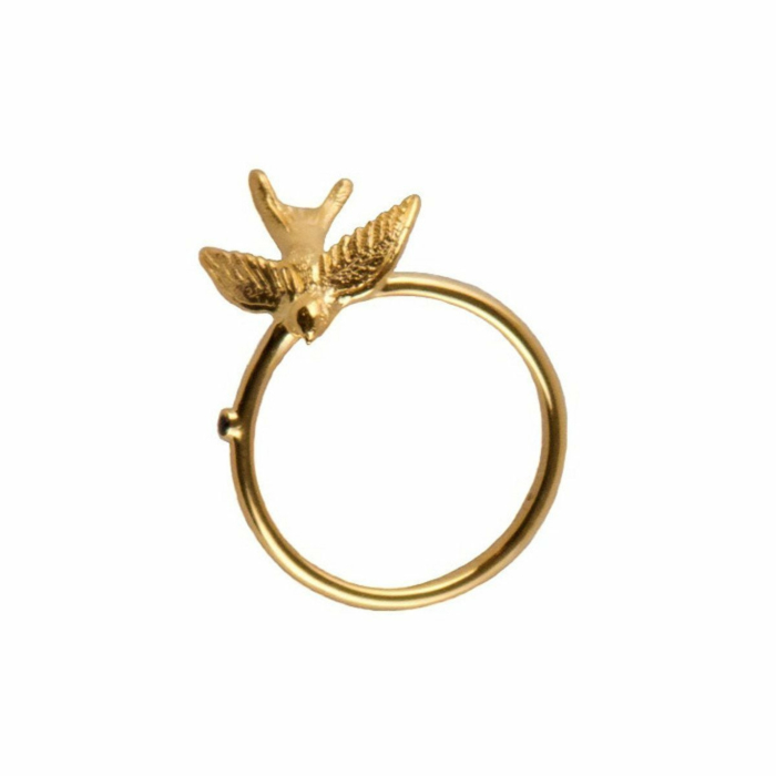 Gold Swallow pinky ring