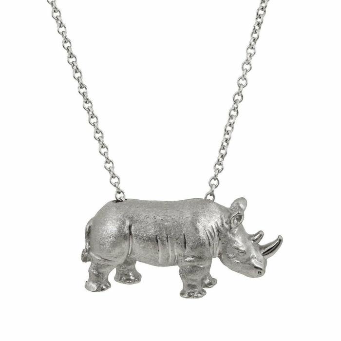 White Rhino Pendant