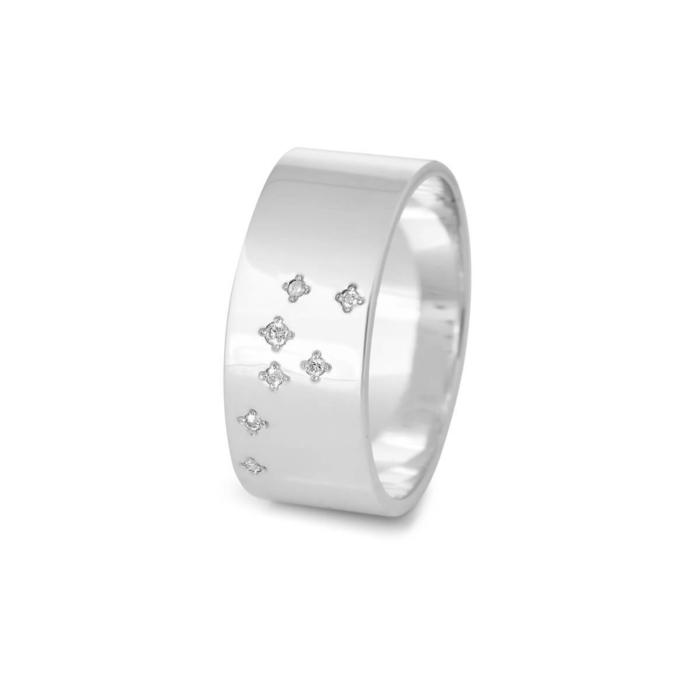 Sterling Silver Taurus Zodiac Constellation Ring