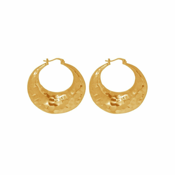 Gold Organic Hoop Earrings